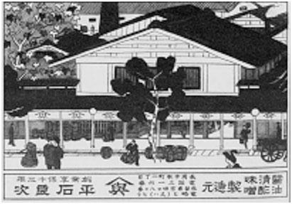 大正時代の平石醤油店